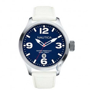 Nautica BFD White Pebble Grain Leather Strap