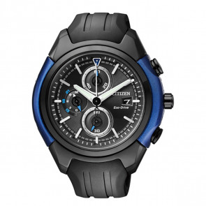 Citizen Chronograph EcoDrive Black Rubber Strap