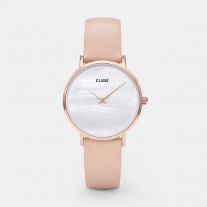 CLUSE Minuit La Perle Rose Gold White Pearl/Nude