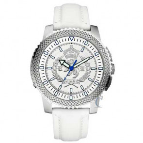 Marc Ecko THE COLLEGIATE, White Leather Strap