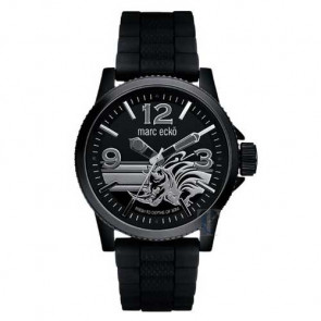 Marc Ecko THE FLINT, Black PU Strap