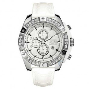 Marc Ecko THE COSMO, White Leather Strap
