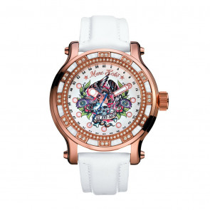 Marc Ecko THE FLYAWAY, White Leather Strap