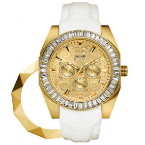 Marc Ecko THE SHADY, White Croco Leather Strap