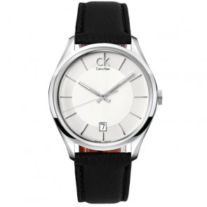 Calvin Klein Simplicity White Leather Strap