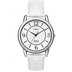 Timex T Color Strap Collection White Leather Strap T2N685