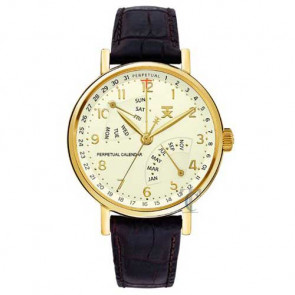 Tx Classic Perpetual Calendar Brown Leather Strap