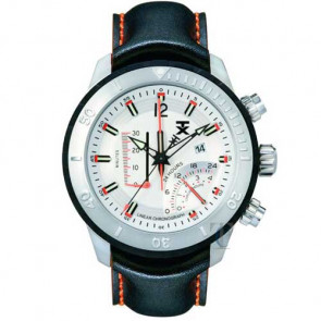 Tx World Linear Black Leather Strap