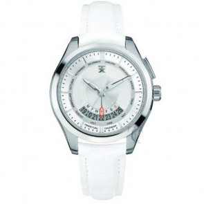 Tx Perpetual Weekly Calendar White Leather Strap