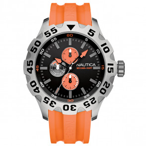 Nautica BFD100 MULTI Multifunction, Orange PU Strap
