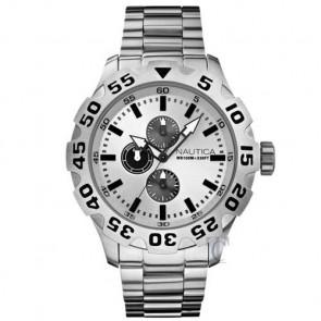 Nautica BFD 100 Bracelet, Silver Dial