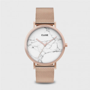 CLUSE La Roche Mesh Rose Gold White Marble/Rose Gold